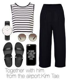 """Together with him  from the airport:Kim Tae"" by viva73319 on Polyvore featuring мода, FitFlop, Prada, Casetify и Daniel Wellington"