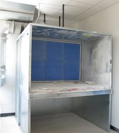 Great DIY spray booth from a cupboard DIY workshop Pinterest