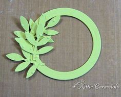 Ok, this is wreath is done using Stampin' Up!'s bird punch, great idea!