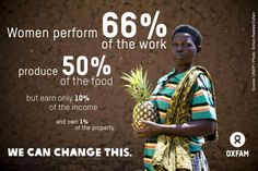 Women perform 66% of the world's work, produce 50% of the food, but earn only 10% of the income & own 1% of the property #IWD pic.twitter.com/r9M4ShlUjf International Women's Day offers us an opportunity to raise awareness of inequality and reminds us that the struggle for equality and positive change must continue. Read how Oxfam is celebrating #IWD2014 http://oxf.am/w6C