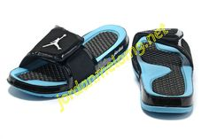 e6991e638d9271 Air Jordan Hydro 2 Slide Slides Sandals Sandals Black Sky Blue