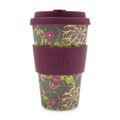 William Morris Seaweed 14oz Ecoffee Cup is an environmentally responsible reusable Coffee Cup made with natural bamboo fibre. William Morris Ltd Edition.