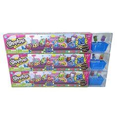 NEW Shopkins Food Fair 2 pack candy jar blind basket Season 4 Bling Dlish Donut