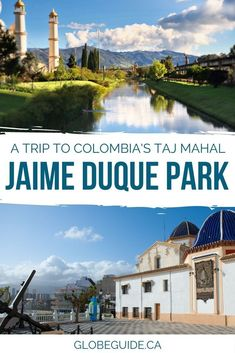 Just outside Bogota, Colombia there's a quirky spot called Jaime Duque Park, and it just so happens to have a life-sized replica of the Taj Mahal!  Colombia travel | South America travel