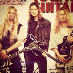 Zakk, Paul Gilbert, John Sykes.  This pic is filled to overflowing with win.