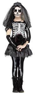 Dark Skeleton Bride Child Costume - 354442 | trendyhalloween.com #girlscostumes