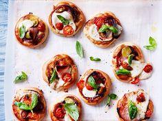 Italienische Pizzettas Rezept   LECKER