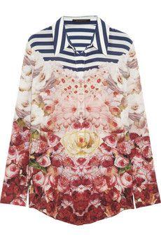 Mother of Pearl - + Jim Lambie printed silk shirt Jim Lambie, Motif Floral, City Style, Skirt Fashion, City Fashion, Collar Shirts, Shirt Style, Long Sleeve Shirts, Printed Silk
