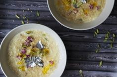 Pakistani Seviyan – sweet roasted vermicelli in milk, cardamom with pistachios and raisins