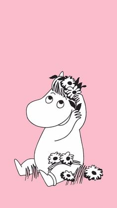 Moomin Wallpaper, Iphone Wallpaper, Moomin Tattoo, Cute Backrounds, Moomin Valley, Cute Little Things, Pink Aesthetic, Phone Backgrounds, Troll