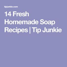 14 Fresh Homemade Soap Recipes | Tip Junkie