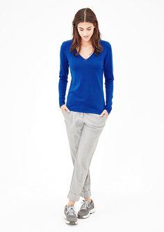 Pullover mit V-Ausschnitt von s.Oliver. Entdecken Sie jetzt topaktuelle Mode für Damen, Herren und Kinder und bestellen Sie online.