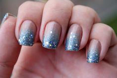 Ombré Nails azul no esmalte da semana