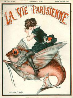 hoodoothatvoodoo:  La Vie Parisienne March 1921 Illustration by Cheri Herouard