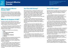 Lets Talk Facts: Seasonal Affective Disorder SAD