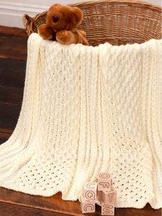Irish Eyes Baby Blanket | Yarn | Free Knitting Patterns | Crochet Patterns | Yarnspirations
