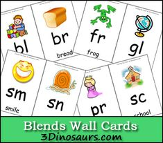 Free Blends Wall Cards - 3DInosaurs.com