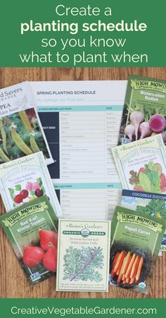 Most gardeners wait too long to start planting in spring and then don't continue planting throughout the season. A planting schedule is the answer! #garden #planning #organic #tips
