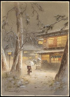 Terauchi-Night_Winter_Town_Scene-x800   by irych
