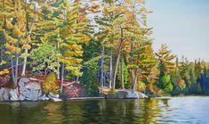 Autumn Shore Landscape Paintings, Watercolor Paintings, Landscapes, Painting Trees, West Coast Canada, Algonquin Park, Beautiful Places, Images, Scene