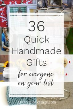 Handmade gift ideas that work for so many on your list - grandparents friends parents teachers. DIY projects that are easy and quick to make for Christmas birthdays and more. Handmade Gifts For Friends, Handmade Birthday Gifts, Easy Handmade Gifts, Diy Gifts For Men, Diy Crafts For Gifts, Handmade Christmas Gifts, Friend Birthday Gifts, Food Crafts, Quick Diy Birthday Gifts For Friends