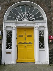 A gallery showcasing Dublin's front doors. During my high school trip to Ireland I remember thinking these looked so fun!