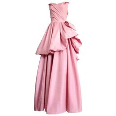 Vintage CHRISTIAN DIOR Ball gown dress ❤ liked on Polyvore featuring dresses, gowns, 80s dress, christian dior dresses, vintage gowns, pink evening gowns and vintage ball gowns