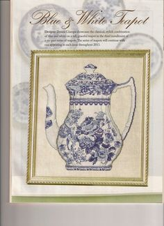 Blue and White Teapot - pg. 1