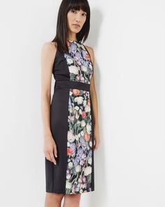 b156fc12397 Ted Baker Kensington Floral bodycon dress Black Ted Baker Dress, Black  Bodycon Dress, Dress