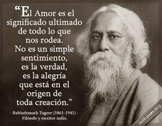 Rabindranath Tagore, filósofo y escritor indio.