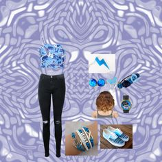 """blue,Blue, and more BLUE!"" by feadesiyan on Polyvore watch watches"