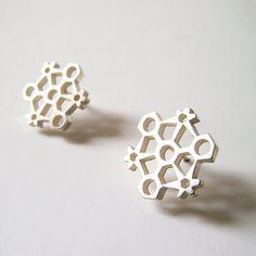 Hoarfrost earrings / Pendientes escarcha by BANDANA