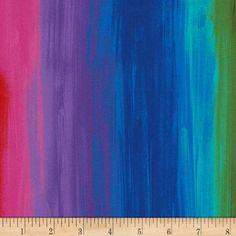 GEO BALL MEADOW digital print RAINBOW! Timeless treasures 100/% cotton fabric