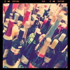 Lots of wine and champagne for the wedding week!!