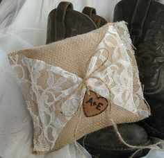 Hey, I found this really awesome Etsy listing at https://www.etsy.com/listing/165661943/burlap-and-lace-personalized-ring-bearer