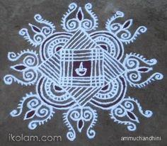 Rangoli Special day kolam freehand | www.iKolam.com