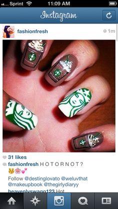 Starbucks nails THE MOST POPULAR NAILS AND POLISH #nails #polish #Manicure #stylish