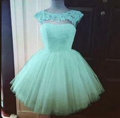 Simple-dress Elegant A-line Beading Scoop Blue Short Tulle Prom Dresses/Homecoming Dresses TUPD-70701