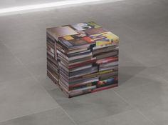 Rashid Rana   Artists   Lisson Gallery  Rashid Rana Books-2, 2010-11UV Print on Aluminium 62 x 62 x 62 cm
