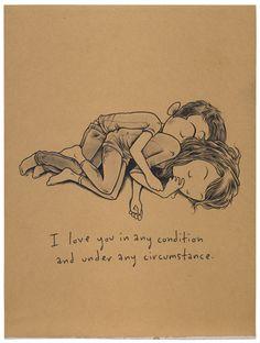 unconditional love.  te quiero en cualquier condición y bajo cualquier circunstancia. Amor incondicional www.twinshoes.es