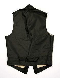 Waistcoat Date: ca. 1860 Culture: American Medium: silk
