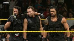 The Shield: Seth Rollings (L), Dean Ambrose (M) and Roman Rights (R)