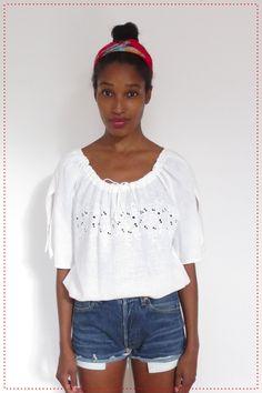 Boho Chic White Blouse