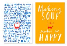 Marion Deuchars: From book What's Cooking? Famous designers on food. Baseline #typography design