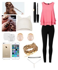 """Watching Castle with Squad"" by saraaaaaah4812 ❤ liked on Polyvore featuring Max Studio, VILA, FingerPrint Jewellry, Topshop, Kenneth Jay Lane and Wet Seal"