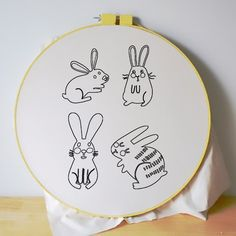 Grab these free cute printable embroidery patterns.