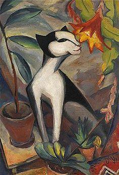 Dorothea Maetzel (1886-1930) Onder invloed van de expressionistische beweging Die Brücke, het primitivisme en het kubisme veranderde Maetzel-Johannsen haar stijl na 1919 in een modernistische richting, waarbij hoekige figuren en strakke belijningen centraal stonden, binnen vlakke ruimtes. Ze maakte portretten, figuurstudies en stillevens. Haar werken kenmerkten zich door een melancholische uitstraling.