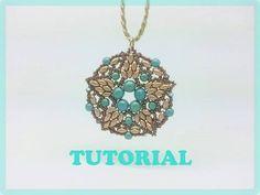 DIY: tutorial con perline, modulo Aster con superduo e perle - YouTube