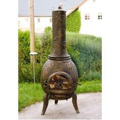 Poêle Brasero pour Jardin Terrasse en Bronze Massif - Chauffage Cheminée exterieure