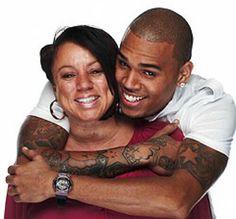 Chris Brown and his Mom